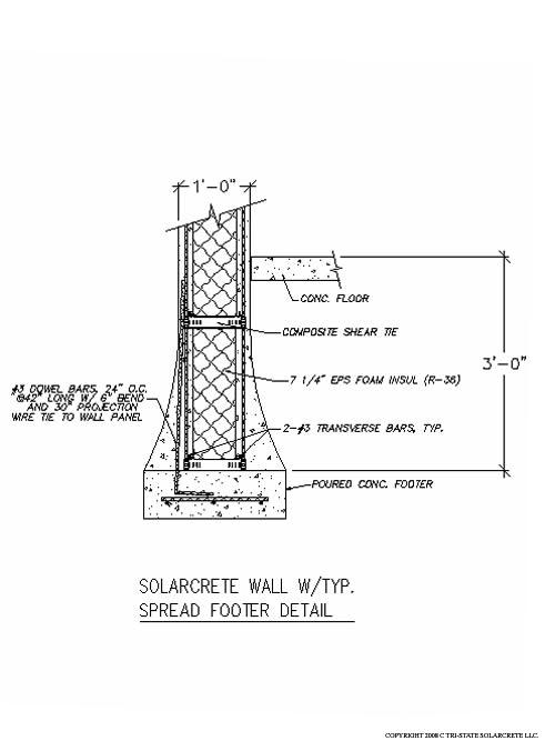Floor Joist Amp Footer Design Details For The Solarcrete