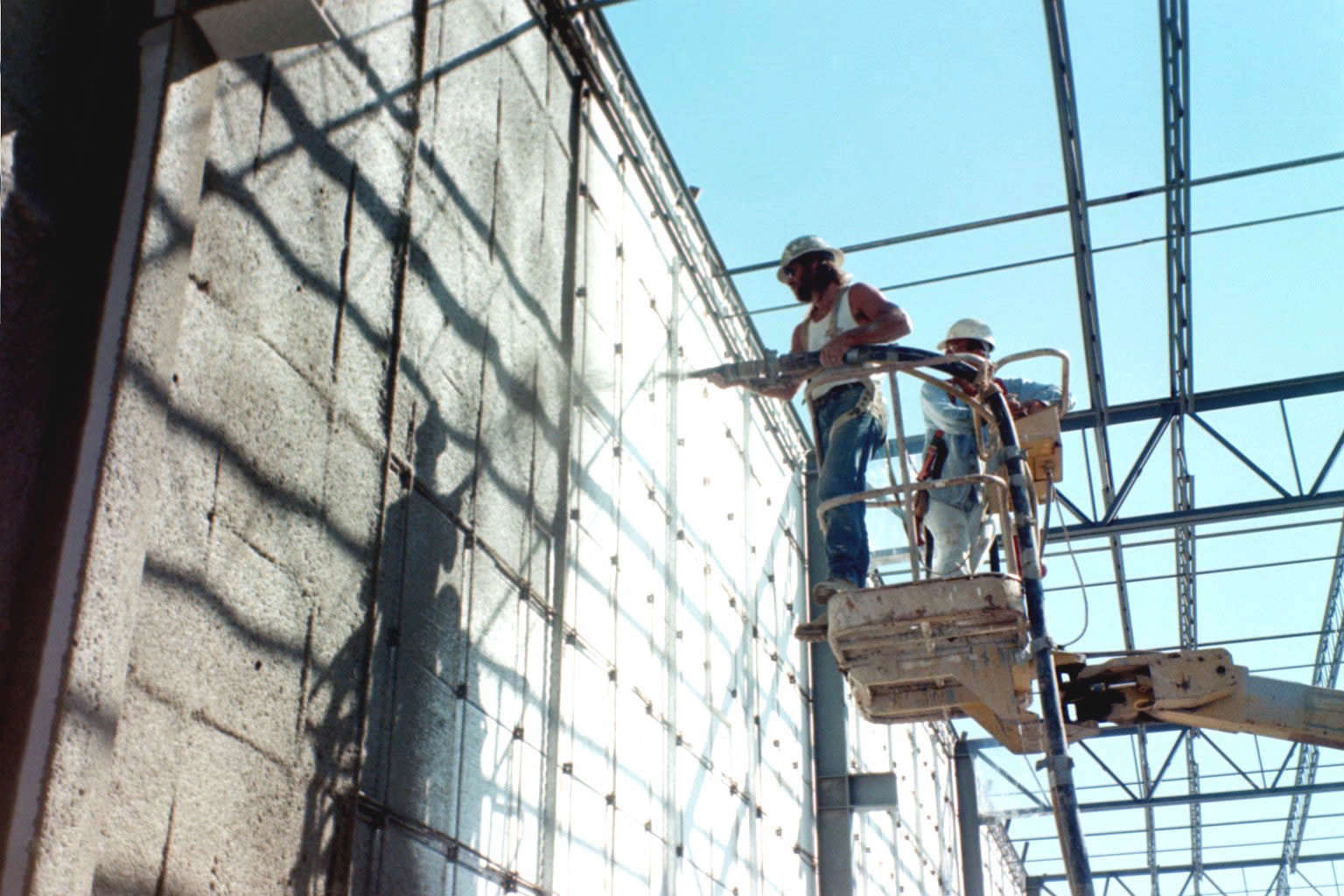 Shotcrete Application On Eps Foam Wall Panels Pictures